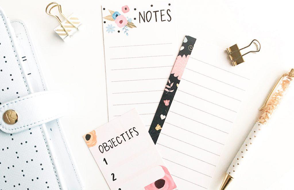 Les petites notes à imprimer